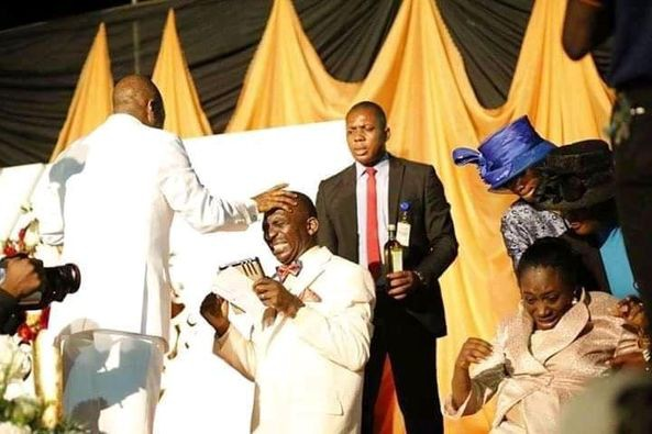 Transfer Of same Grace by Bishop David Oyedepo to Dr Paul Enenche